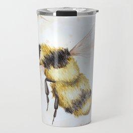 Bumble bee watercolor Travel Mug