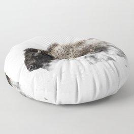 Bison Yellowstone Winter Floor Pillow