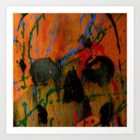 TwinSun - Skull Art Print