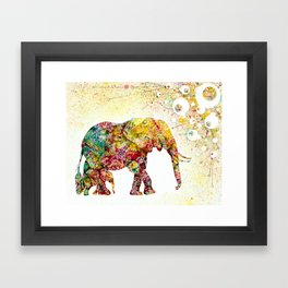 """Forever Young"" Elephant Mother & Baby Framed Art Print"