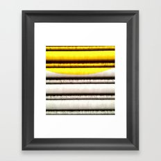 SPLASH - YELLOW Framed Art Print