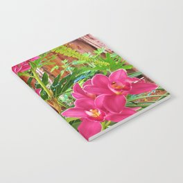 Pink Orchids Notebook