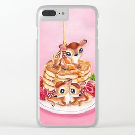 Three Pancake Deer Clear iPhone Case