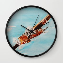 Avion blue horizon Wall Clock