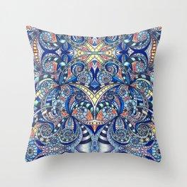 Drawing Floral Zentangle G7B Throw Pillow