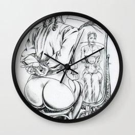 Young Lady,Spanking illustration,Discipline & Punishment Wall Clock