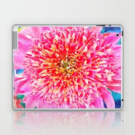 Pink Watercolor Flower Laptop & iPad Skin