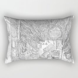 Kowloon walled city. Hong Kong Rectangular Pillow