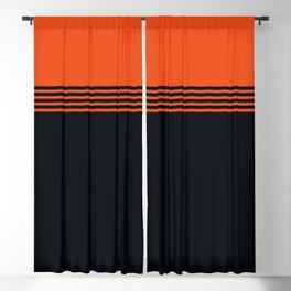 70s Orange Retro Striped Pattern Blackout Curtain