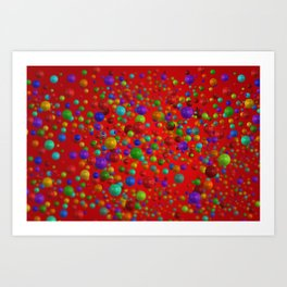 Colorful Bubbles Pattern Art Print