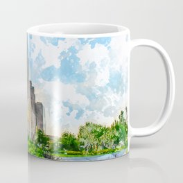 Oquirrh Mountain LDS Temple Watercolor - Summer Coffee Mug