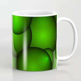 Background from green molecules and balls. Coffee Mug
