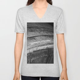 Barrels In Black & White Unisex V-Neck