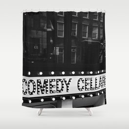 New York Comedy Cellar Shower Curtain