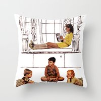 moonrise kingdom Throw Pillows featuring moonrise kingdom by sharon