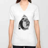 penguin V-neck T-shirts featuring Penguin by mangulica
