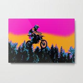 Born to Ride - Motocross Racer Metal Print