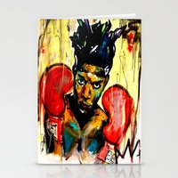 basquiat Stationery Cards featuring Basquiat by Ruby Chavez