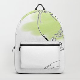paris in a glass ball . green pastel colors Backpack