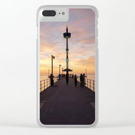 Brighton Jetty Sunset Clear iPhone Case