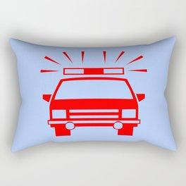 Police car illustration Rectangular Pillow