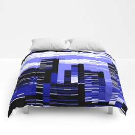 pxl cityscape Comforters