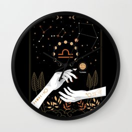 Libra Zodiac Theme Wall Clock