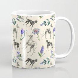 GREYHOUND DOGS & PRESSED FLOWERS Coffee Mug
