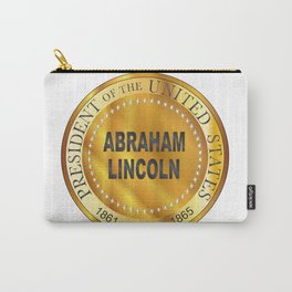 Abraham Lincoln Metal Stamp Carry-All Pouch