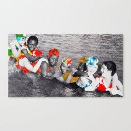 Water Nymphs (collboration .dotbox) Canvas Print