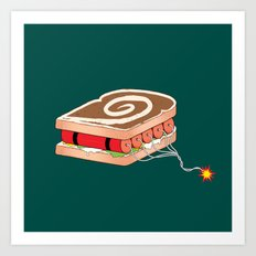 Dynamite Sandwich Art Print