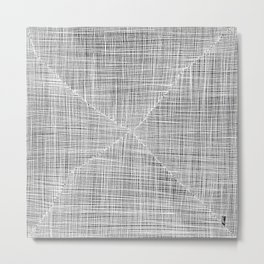 Ink Weaves: White Alabaster Metal Print