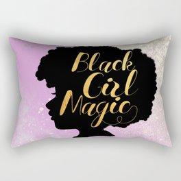 Little Miss Black Girl Magic Rectangular Pillow