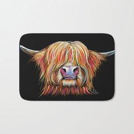 Scottish Highland Cow ' CHARMER ' by Shirley MacArthur Bath Mat