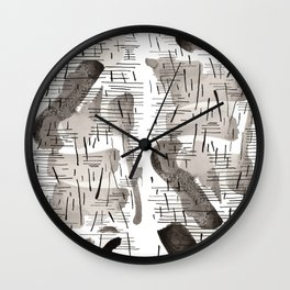 Rain all day Wall Clock