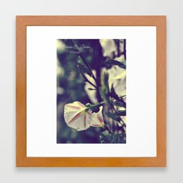 White lies Framed Art Print