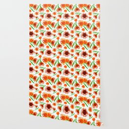 Cute Australian Native Flower Print - Lovely Pincushions Wallpaper