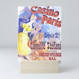 Casino De Paris Camille St Fani 1891 By Jules Cheret | Reproduction Art Nouveau Mini Art Print