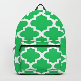 Arabesque Architecture Pattern In Zen Green Backpack
