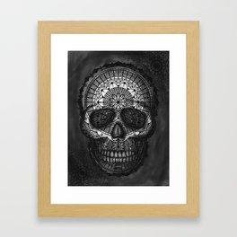 Caveira Mandala Framed Art Print