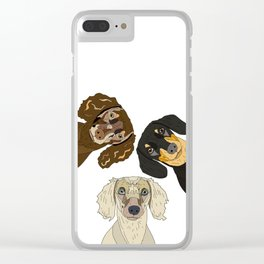 Triple Doxies Clear iPhone Case