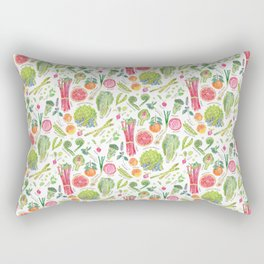 Spring Harvest Pattern Annotated Rectangular Pillow