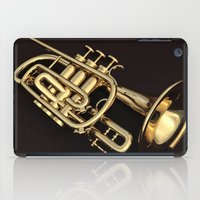 trumpet iPad Cases featuring trumpet by Ancello