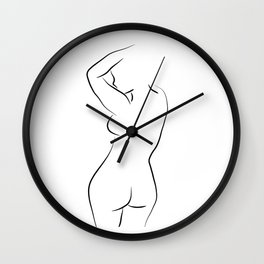 Female Figure Drawing - Whole Lotta Lana Wall Clock