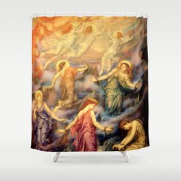 "Evelyn De Morgan ""Kingdom of Heaven"" Shower Curtain"