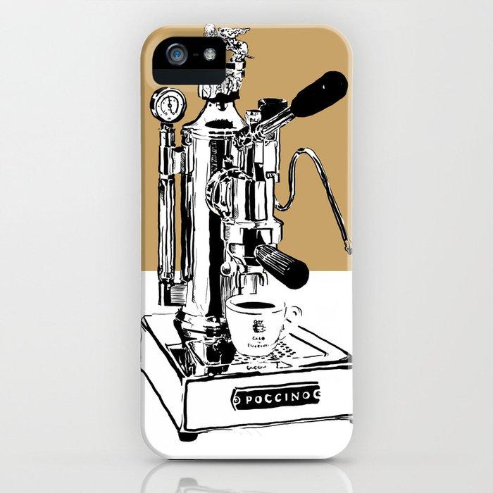 Arte di Poccino Espresso maker pop art print iPhone Case