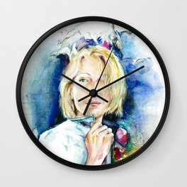 Seagull woman Wall Clock