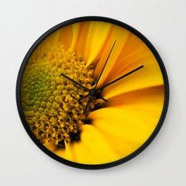 Big Yellow Flower Wall Clock