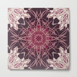 Colors of the Cherry Blossom Mosaic Metal Print