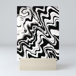Zebra like pattern.Liquified,marble effect decor Mini Art Print